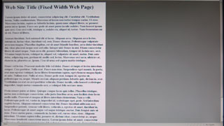 fixed width web page displayed on a wide-screen monitor