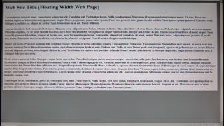 floating width web page displayed on a wide-screen monitor